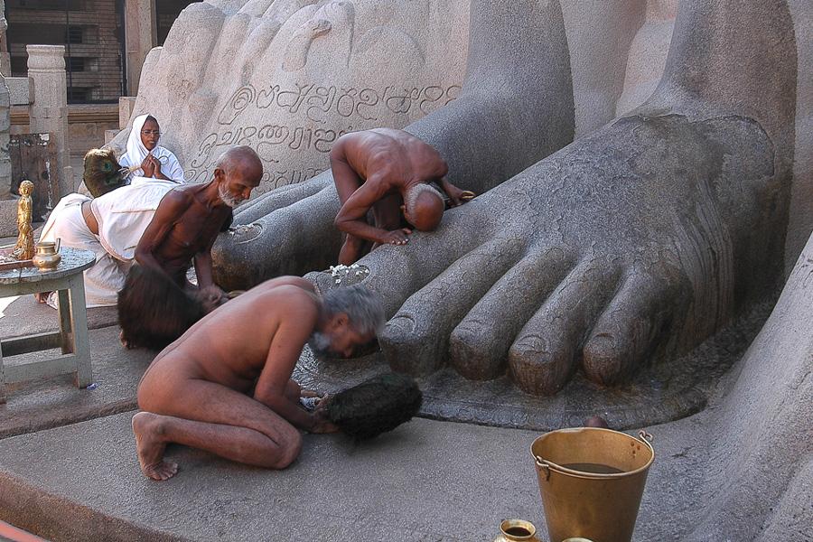 Lotus feet of Bahubali